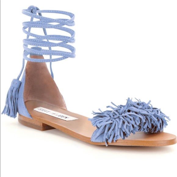 c34590470d1 Steve Madden Sweetyy suede fringe lace up sandal